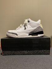 Nike Air Jordan 3 Retro White/Fire-Red Cement Grey Black Size 9.5