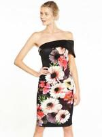 V by Very Bardot Floral Printed Prom Dress UK 8 RRP £70