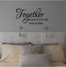 Together is the Best Place to Be Wall Sticker Wall Decor Vinyl Decal lettering
