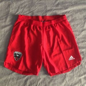 DC United Adidas Authentic Red Shorts Aeroready MLS XL Soccer