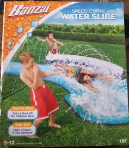 16 Ft. Speed Curve Water slip & Slide One Size Blue NEW Banzai