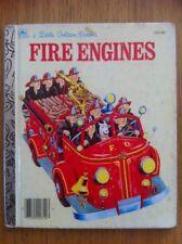 Fire Engines Vintage Little Golden Book Tibor Gergely