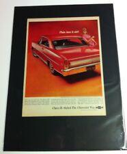 "1966 Chevrolet Chevy II Nova SS car ad   ""Ready to Display""  Hot Rod gift 1967"