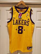 Rare New Vintage Nike Rewind NBA Los Angeles Lakers Kobe #8 Basketball Jersey L