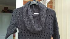 Lovely New Look Dark Grey Short Sleeved Jumper, Size 8, Good Condition