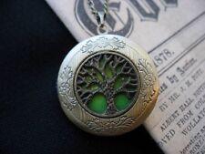 Árbol de la vida Medallón Collar Colgante Gótico Verde Antiguo De Bronce Vintage Fae