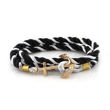 weave Anchor bracelet unisex jewelry bracelet leather for men women for gift