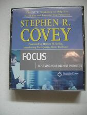 STEPHEN COVEY~Priority Workshop Lessons for Staying on Track and Mastering FOCAS