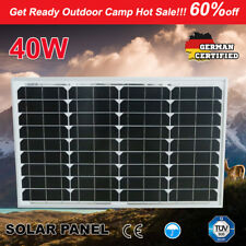 12V 40W Solar Panel Kit MONO Caravan Camping Home Power Battery Charger 4X4