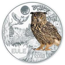 Österreich - 3 Euro 2018 - Tier- Taler- Serie - Die Eule (8.) - CN Handgehoben