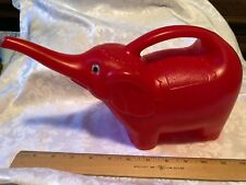 Red Plastic Elephant Watering Can
