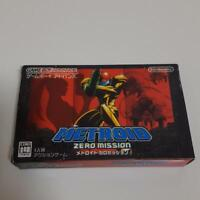 Used Metroid Zero Mission Nintendo Game Boy Advance GBA box manual tested Japan