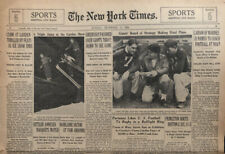 New York Giants vs Green Bay Packers NFL Championship 1938 NY Times Newspaper
