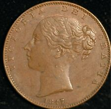 Farthing Victoria Young Head 1847 gVF  (T112)