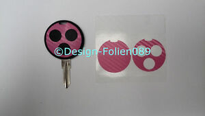 Carbon Pink Folie Dekor Schlüssel Key Smart Cabrio AMG fortwo 450 Brabus Coupe A