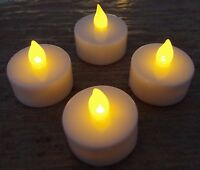 4 x Led Teelicht Timer elektrische Teelichter Batterie Kerze Kerzen Flamme