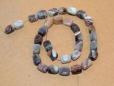Botswana Agate 12x8mm Tubes Gemstone Beads (13383)