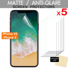 5 Pack of ANTI-GLARE MATTE Screen Protector Covers for Apple iPhone XS, iPhone X