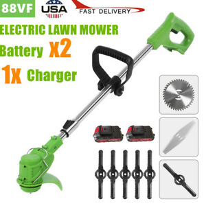 24V Electric Grass Trimmer Weed Eater Edger Lawn Mower Cordless String Trimmer