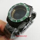 PVD Plated 40mm Watch Case Sapphire  Watch Strap Fit ETA 2836 MIYOTA Movement