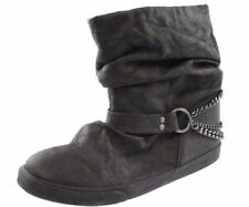 New ROXY Women Blk Embellished Slouched Ankle Casual Pull On Boot Shoe Sz 10 M