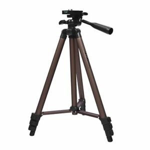 Camera Tripod Stand Portable Aluminum With Holder For Canon Nikon Sony Dslr Phon