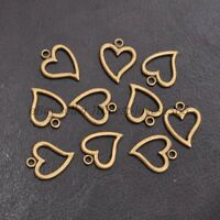 Wholesale Tibetan Sliver Heart Charms Pendants Jewelry Findings 14*17MM BE3001
