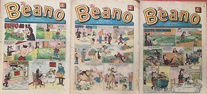 3 Vintage Beano Comics , 2nd May-14th Nov -23th May 1970 - 51st Birthday #1