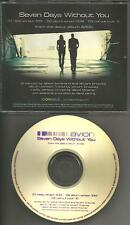 The Tories AVION Seven Days without you w/RARE RADIO VERSION  PROMO DJ CD single