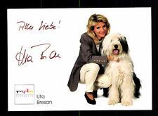 Uta Bresan Autogrammkarte Original Signiert ## BC 75357