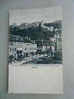Ansichtskarte Schloss Heidelberg mit Kornmarkt vom Hotel Prinz Karl gesehen 1905
