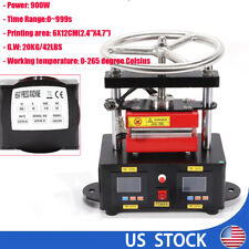 2000+ PSI Professional Colophony Rosin Press Hand Crank Duel Heated Plates 900W