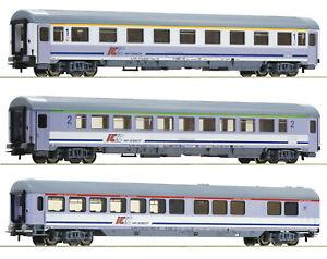 """Roco H0 54172-S IC-Schnellzugwagen-Set der PKP 3-teilig """"Neuheit 2020"""" NEU + OVP"""