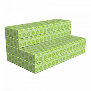 Ambesonne Fruits HR Foam Portable Mattress & Fabric Cover in 3 Sizes