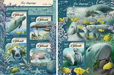 Djibouti Dugongs Marine Fauna MNH stamp set