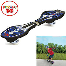 Dazzling Toys Ripstick Caster Boards High Quality Caster Wheel Skateboard Blue