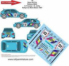 DECALS 1/32 REF 75 CITROEN SAXO KIT CAR FRESSOZ RALLYE DU MONT BLANC 1997 RALLY