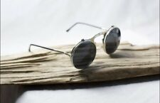 Steampunk Circle Flip Up Glasses Sunglasses Costume Renaissance Fair Silver