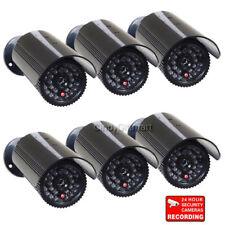 6 Pack Security Dummy Camera Imitation Flashing Light Fake Infrared LED Home CNG