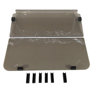 WINDSHIELD FOR CLUB CAR DS PRE 2000 GOLF CARS. 2 PIECE FOLD DOWN. STRONG 4MM.