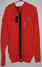NEW Sean John Orange Hoodie Mens Large Hooded Jacket