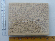 Lace background rubber stamp by Stampin Up, wood mounted, large