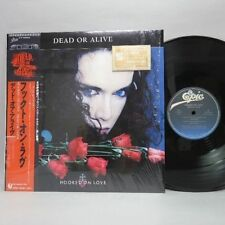 "Dead or Alive - Hooked on Love + Poster Limited Japan PROMO 12"" + Gold Sticker !"
