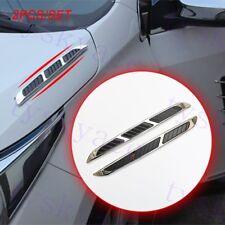 Chrome Car Moulding Stickers Decorate Door Fender Side Front Hood Air Vent Trim