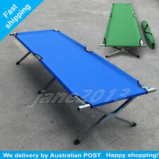 G/B Folding Camping Bed Stretcher Light Weight Durable Camp Portable / Carry Bag