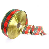 "1 Roll Scottish Plaid Christmas Ribbon Wreath Present Gift Wrapping 2""x 78.7"""