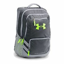 NWT Under Armour Bags Storm Hustle II Backpack- NEON GREEN AND GREY