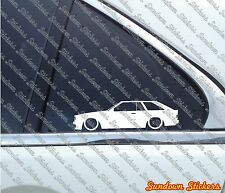 Lowered car outline stickers - for Toyota Corolla Liftback SR5 E71 (1980)
