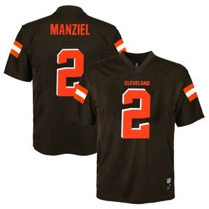 Johnny Manziel NFL Cleveland Browns Mid Tier Home Brown Jersey Youth (S-XL)
