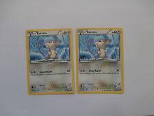 Carte Pokemon Rattata 40 pv Noir et Blanc Glaciation Plasma x 2 !!!